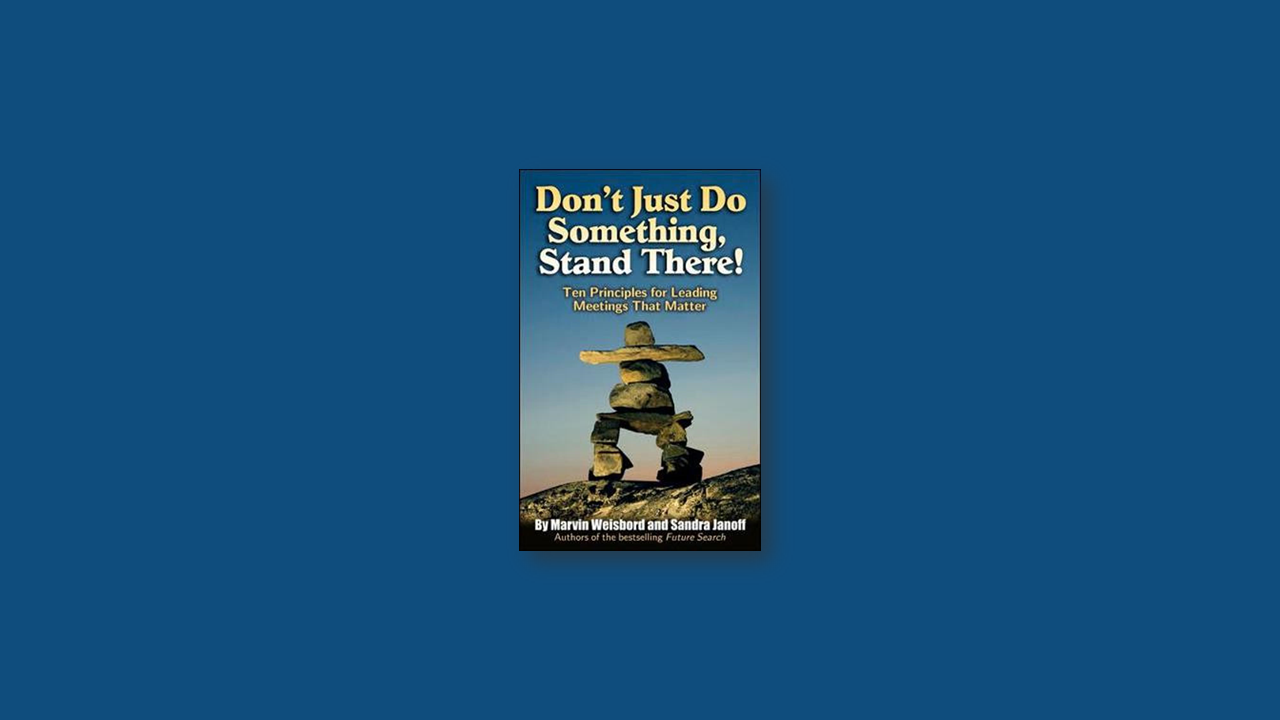 Summary: Don't Just Do Something, Stand There! by Marvin Weishbord, Sandra Janoff